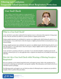 Filtering out Confusion: Frequently Asked Questions about Respiratory Protection, User Seal Check