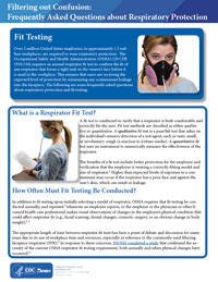 Filtering out Confusion: Frequently Asked Questions about Respiratory Protection, Fit Testing