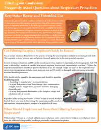 Filtering out Confusion: Frequently Asked Questions about Respiratory Protection, Respirator Reuse and Extended Use